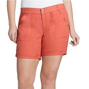NWT Gloria Vanderbilt Women's Maren Twill Shorts 4